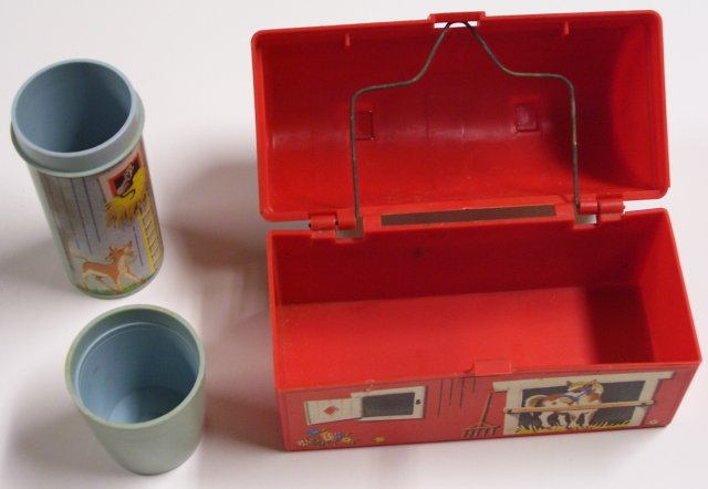 Fisher Price Toy Barn Lunch Box With Silo Thermos 1962