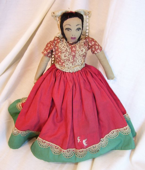 Hand Made Cloth Doll from about 1920