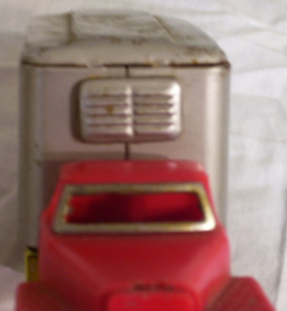 Express Truck, tin and plastic toy from Japan, about 1960