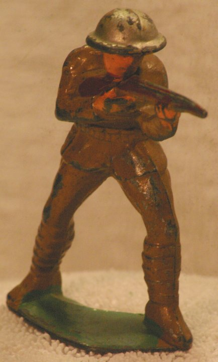 Lead Soldier - Manoil, Sniper, M48 26, from 1940s