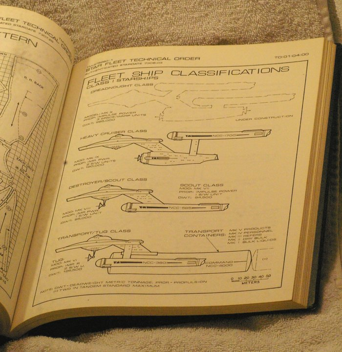 StarTrek Star Fleet Technical Manual, First Printing, 1975