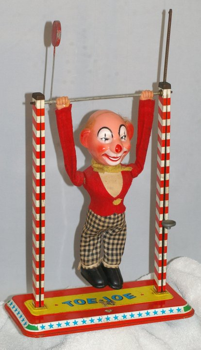 Ohio Art Toe Joe Acrobat Toy from 1950s
