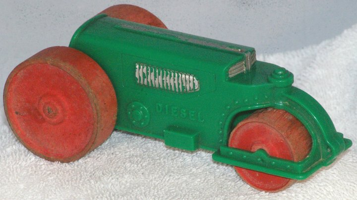 Hubley Kiddie Toy Diesel Road Roller from 1940s or 1950s
