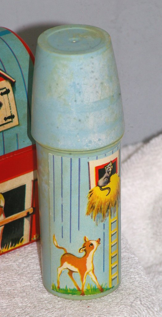 Fisher Price Toy Barn Lunch Box with Silo Thermos, 1962
