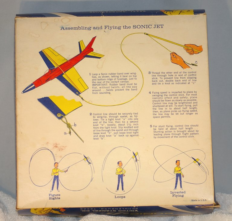 Sonic Jet Control Line Flyer by Victor Stanzel early 1960s